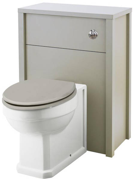 Additional image for 600mm Vanity, 600mm WC & Tall Unit (Stone Grey).
