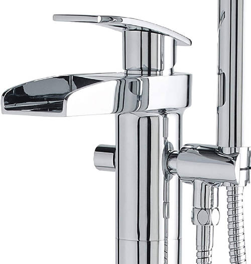 Additional image for Waterfall Floor Standing Bath Shower Mixer Tap.