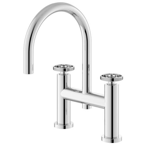 Additional image for Bath Filler Tap With Industrial Handles (Chrome).
