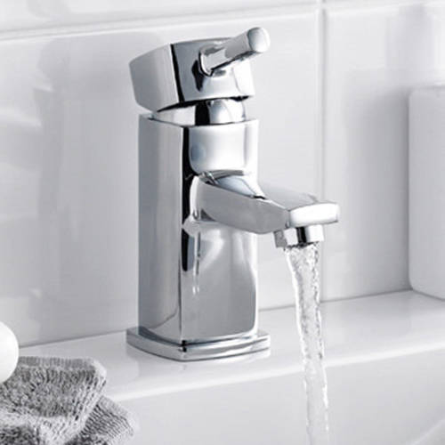 Additional image for Mono Basin Mixer Tap With Push Button Waste (Chrome).