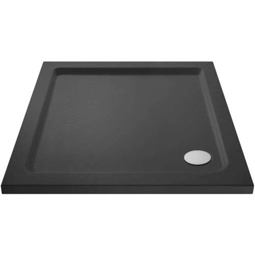 Additional image for Square Shower Tray 700x700mm (Slate Grey).