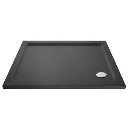 Additional image for Rectangular Shower Tray 900x800mm (Slate Grey).