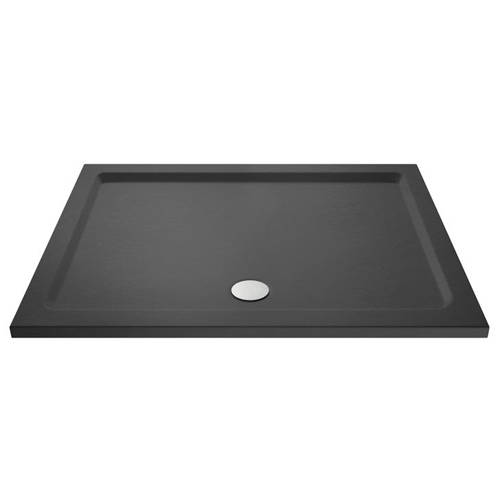 Additional image for Rectangular Shower Tray 1300x800mm (Slate Grey).