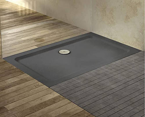 Additional image for Rectangular Shower Tray 1500x800mm (Slate Grey).