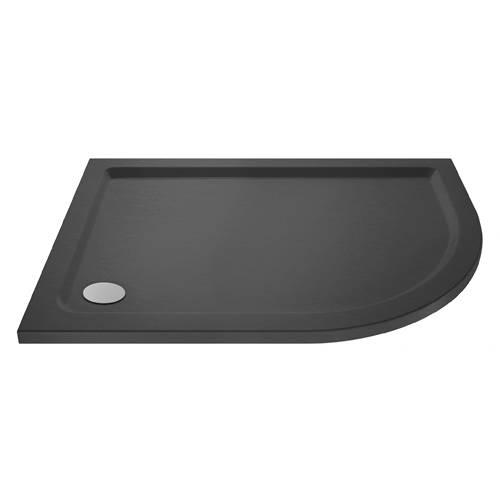 Additional image for Offset Quadrant Shower Tray 900x800 (RH, Slate Grey).