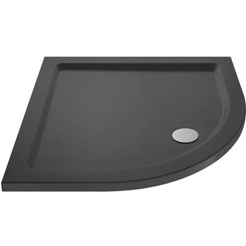 Additional image for Quadrant Shower Tray 800x800mm (Slate Grey).