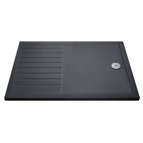 Additional image for Wetroom Rectangular Shower Tray 1400x800mm (Slate Grey).