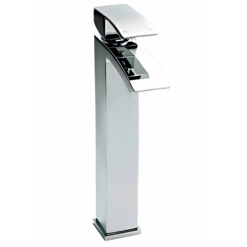 Additional image for High Rise Basin Mixer Tap (Chrome).