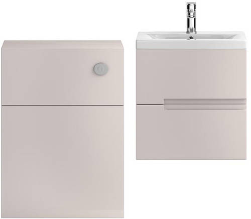 Additional image for 500mm Wall Vanity With 600mm WC Unit & Basin 2 (Cashmere).