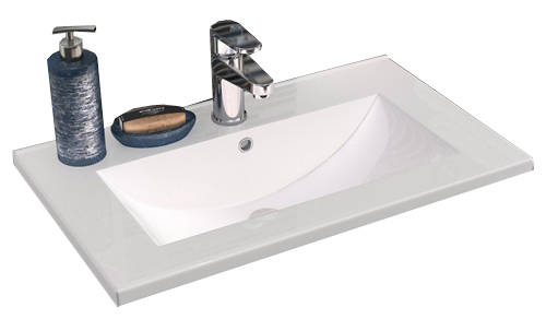 Additional image for 800mm Vanity With 600mm WC Unit & Basin 2 (Cashmere).