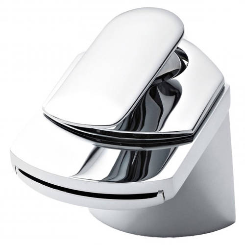 Additional image for Waterfall Basin Mixer Tap With Waste (Chrome).
