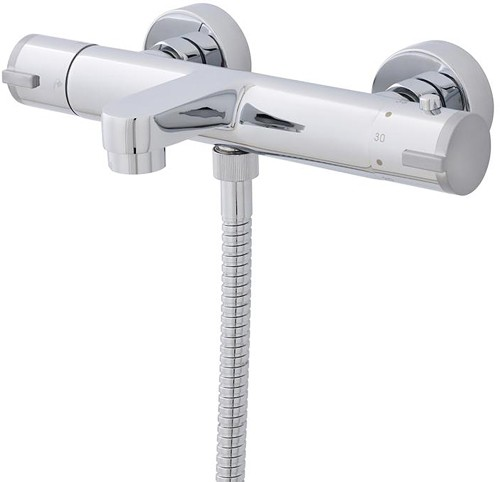 Additional image for Wall Mounted Bath Shower Mixer Tap (Chrome).