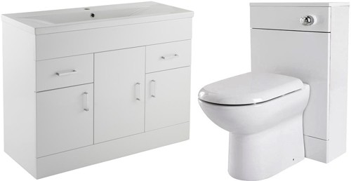 Additional image for 1000mm Vanity Unit Suite With BTW Unit, Pan & Seat.
