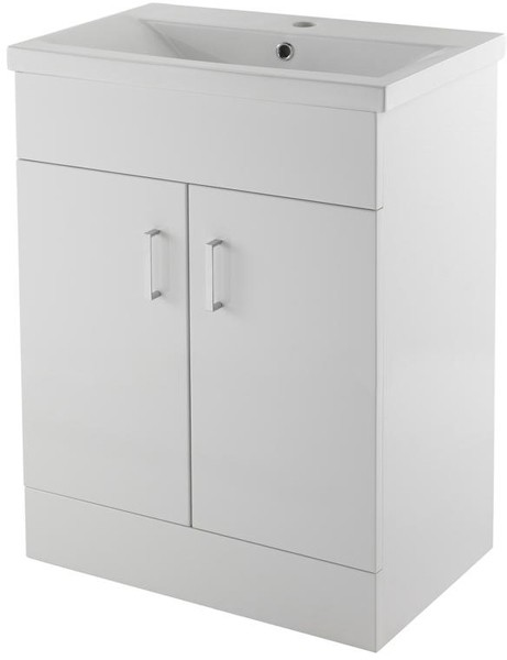 Additional image for 600mm Vanity Unit Suite With BTW Unit, Pan & Seat (White).