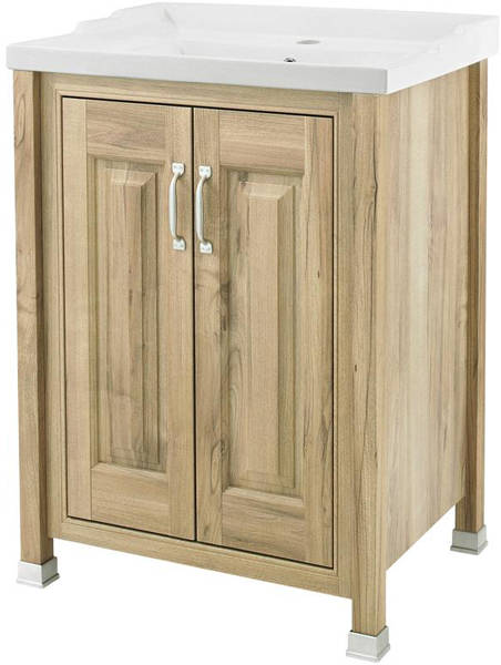 Additional image for 600mm Vanity & 600mm Mirror Pack (Walnut).