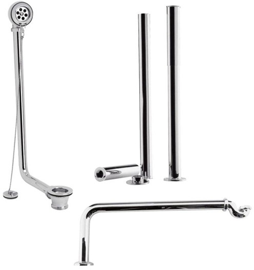 Additional image for Roll Top Bath Pack In Chrome.