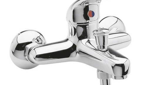 Additional image for Pair Of Wall Mounted Couplings (Chrome).