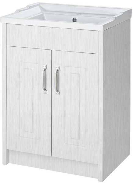 Additional image for 600mm Vanity, 500mm WC Unit & Mirror Cabinet Pack (White).