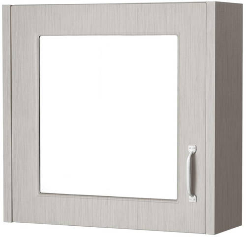 Additional image for 600mm Vanity Unit & Mirror Cabinet Pack (Grey).