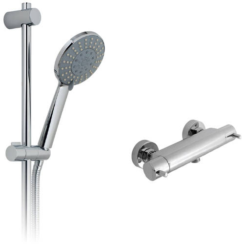 """Additional image for Celsius 1/2"""" Thermostatic Shower Pack (Chrome)."""