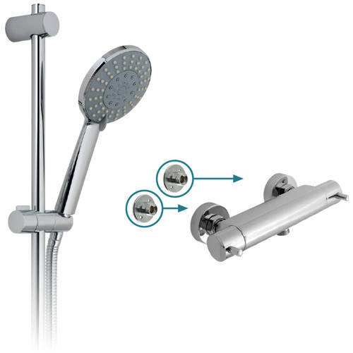 "Additional image for Celsius 1/2"" Thermostatic Shower Pack & Brackets."