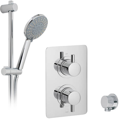 Additional image for Thermostatic Shower Set With 1 Outlet (Chrome).