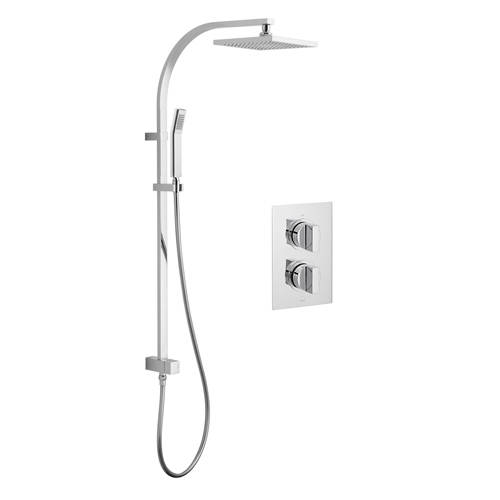 Additional image for Thermostatic Shower Set With Rigid Riser Kit.