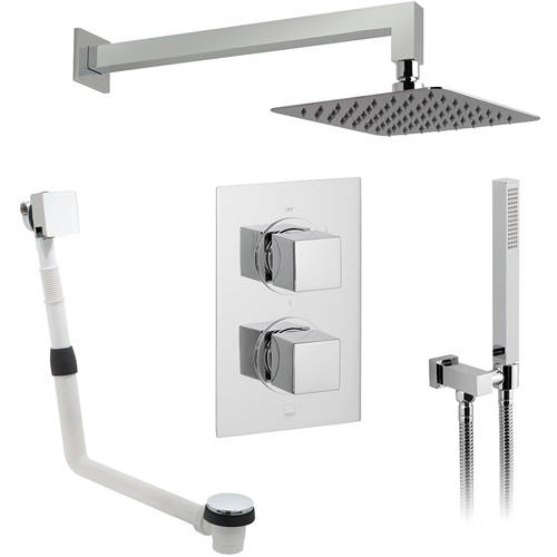 Additional image for Thermostatic Shower Set With 3 Outlets (Chrome).