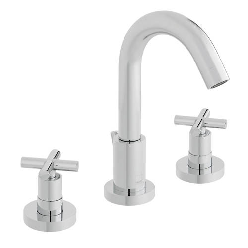 Additional image for 3 Hole Basin Mixer Tap With Pop Up Waste (Chrome).