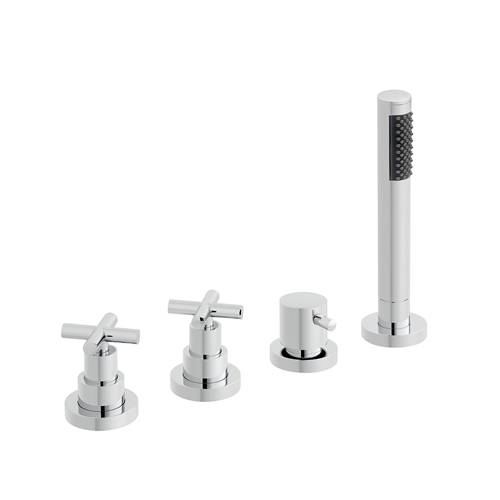 Additional image for 4 Hole Bath Shower Mixer Tap (For Use With Bath Filler Waste).