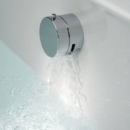 Additional image for 4 Hole Bath Shower Mixer & Bath Filler Overflow Waste (Chrome).