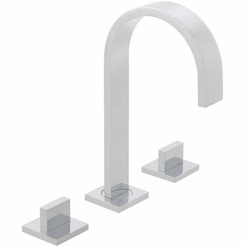 Additional image for Deck Mounted 3 Hole Basin Mixer Tap (Chrome).