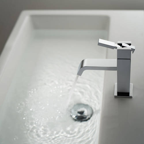 Additional image for Slimline Basin Mixer Tap (Chrome).