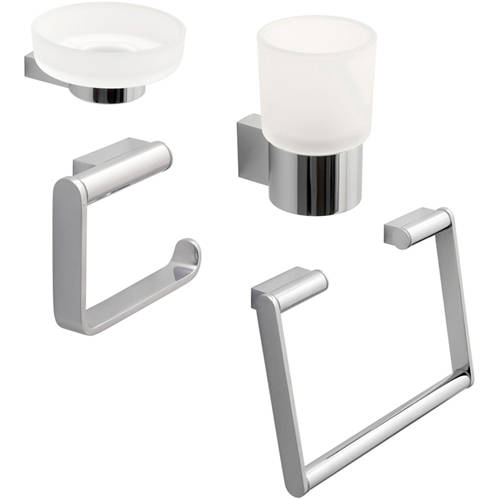 Additional image for Bathroom Accessories Pack A10 (Chrome).