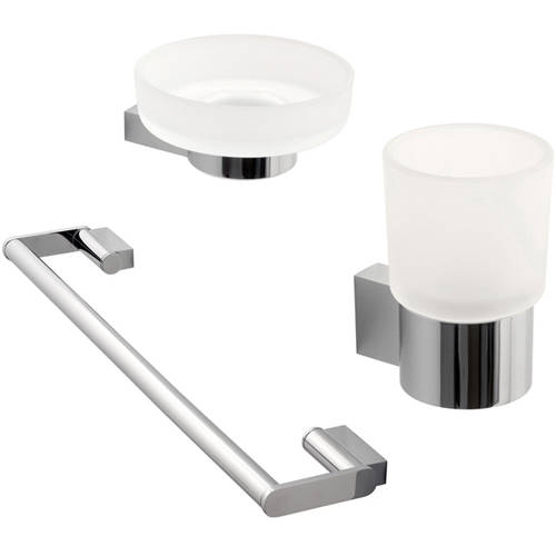 Additional image for Bathroom Accessories Pack A12 (Chrome).