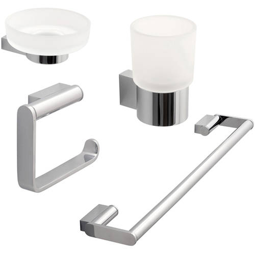 Additional image for Bathroom Accessories Pack A15 (Chrome).