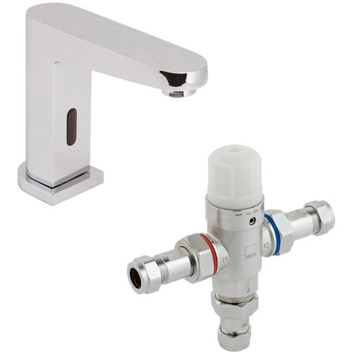 Additional image for Infra-Red Mono Basin Tap & In-Line Thermostatic Valve.