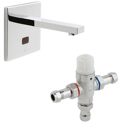 Additional image for Infra-Red Wall Mounted Basin Tap & In-Line Thermostatic Valve.