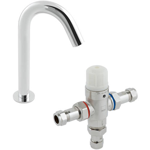 Additional image for Infra-Red Deck Mounted Spout Basin Tap & Thermostatic Valve.