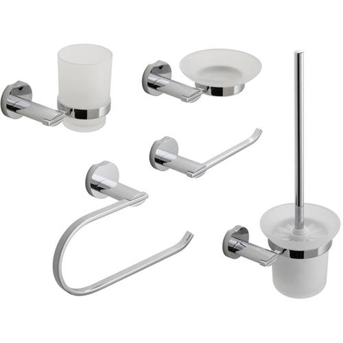 Additional image for Bathroom Accessories Pack A6 (Chrome).