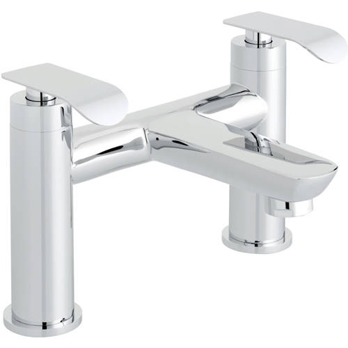 Additional image for Bath Filler Tap & Wall Mounted Basin Mixer Tap Pack (Chrome).