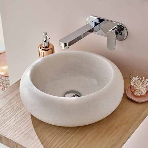 Additional image for Wall Mounted Basin Mixer Tap With 200mm Spout (Chrome).