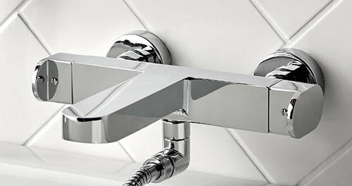 Additional image for Wall Mounted Thermostatic Bath Shower Mixer Tap (Chrome).