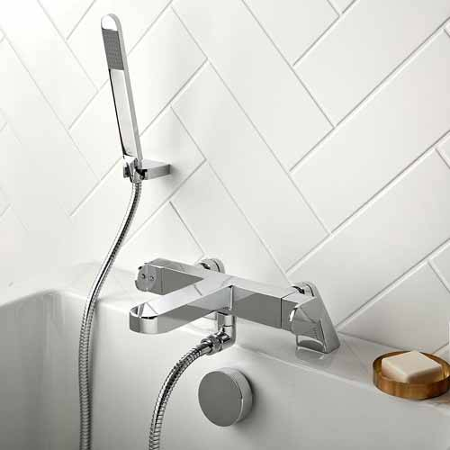 Additional image for Thermostatic Bath Shower Mixer Tap With Kit (Chrome).