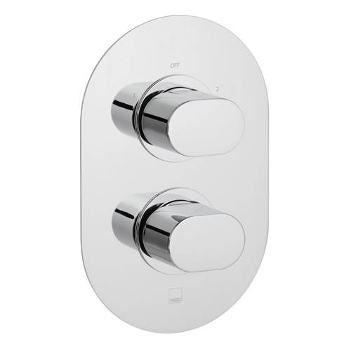 """Additional image for Thermostatic Shower Valve With 2 Outlets (3/4"""", Chrome)."""