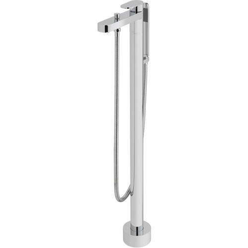 Additional image for Floor Standing Bath Shower Mixer Tap With Kit (Chrome).