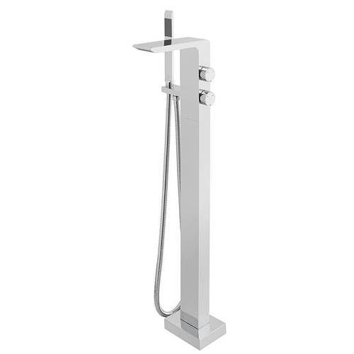 Additional image for Floor Standing Bath Shower Mixer Tap & Extended Basin Tap.