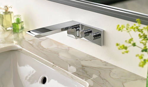 Additional image for 4 Hole Bath Shower Mixer Tap With Bath Filler Waste & Basin Tap.