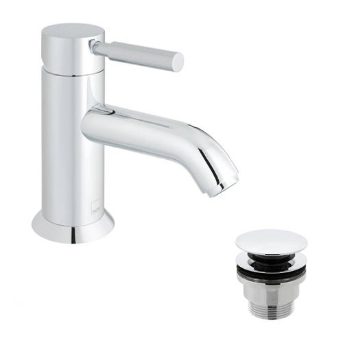 Additional image for Mono Basin Mixer Tap With Universal Waste (Chrome Handle).
