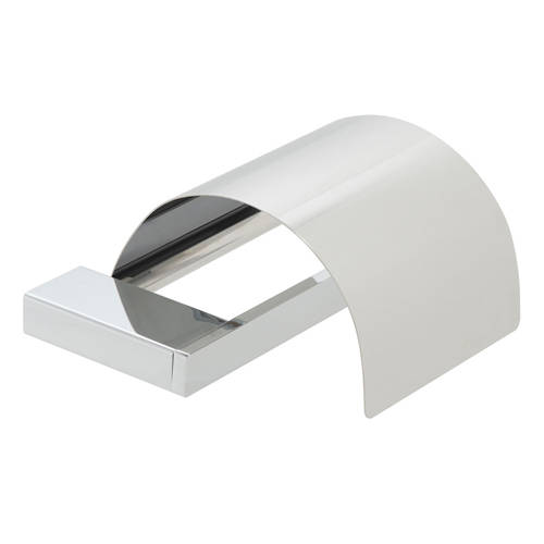 Additional image for Covered Toilet Roll Holder (Chrome).